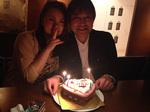 みきちゃん、ケーキとモエシャンありがとうございました1.jpg